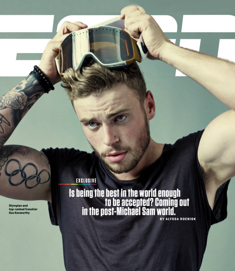 Gus Kenworthy on the cover of ESPN The Magazine